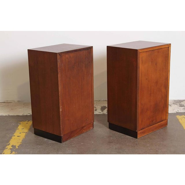 Pair of 1933 Gilbert Rohde Herman Miller Art Deco World's Fair Nightstands Matched For Sale In Dallas - Image 6 of 11