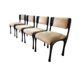 Paul Evans Bronze Sculpted Chairs- Set of 4