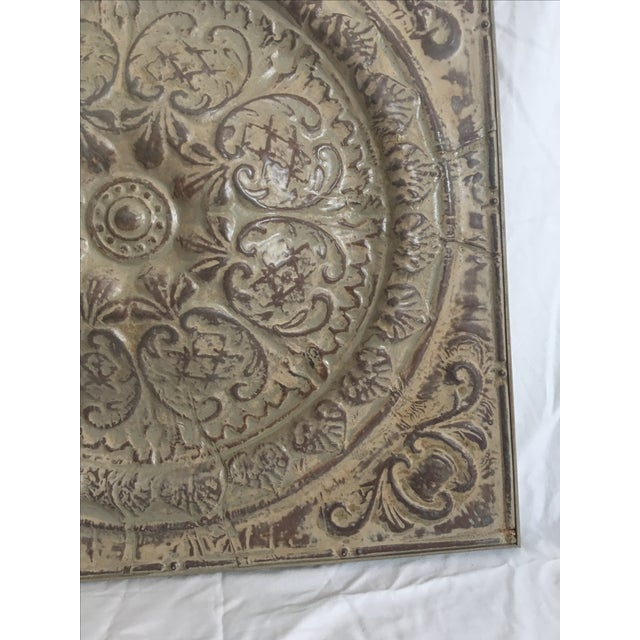Traditional Style Embossed Metal Decorative Object - Image 6 of 7
