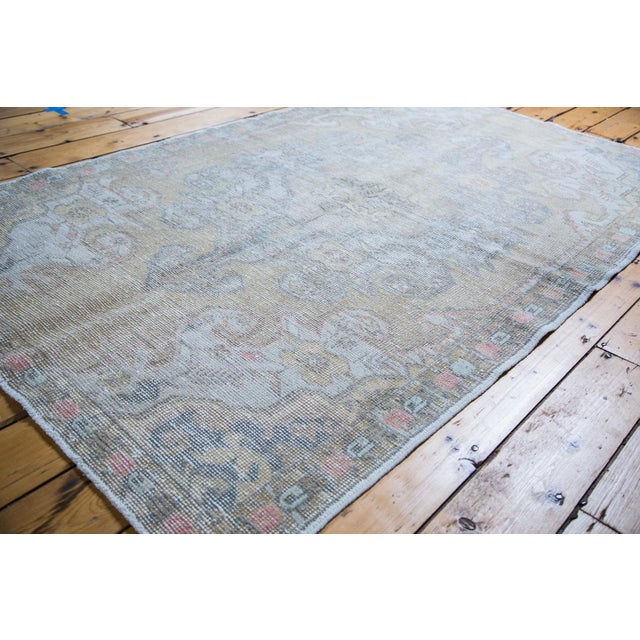 "Gold Leaf Distressed Oushak Rug - 4'3"" X 6'9"" - Image 4 of 5"