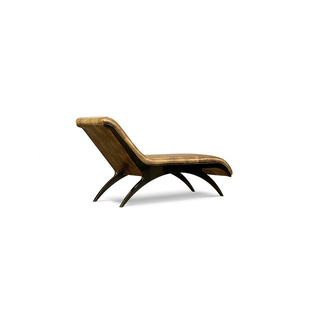 Mid-Century Modern Zeba Chaise From Covet Paris For Sale - Image 3 of 4
