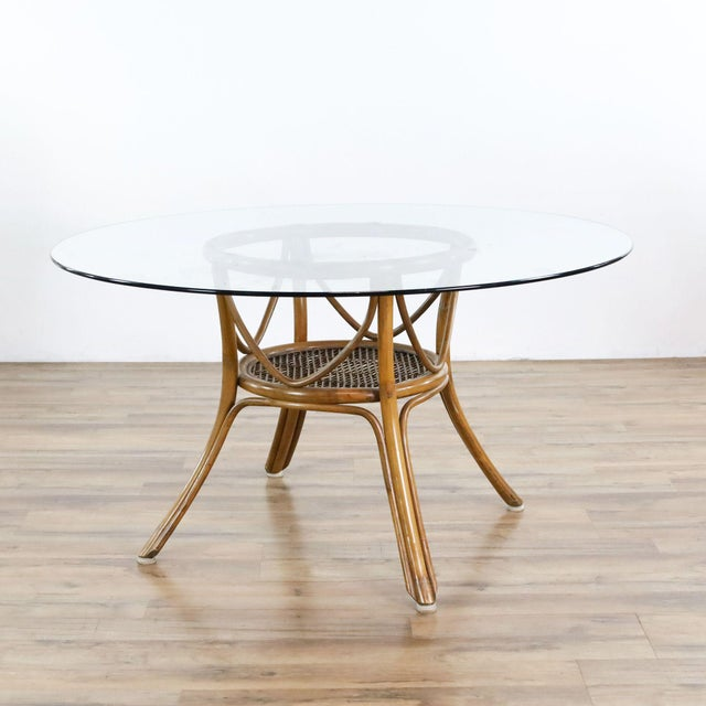 Contemporary Vintage McGuire Rattan Dining Set - 5 Pieces For Sale - Image 3 of 9