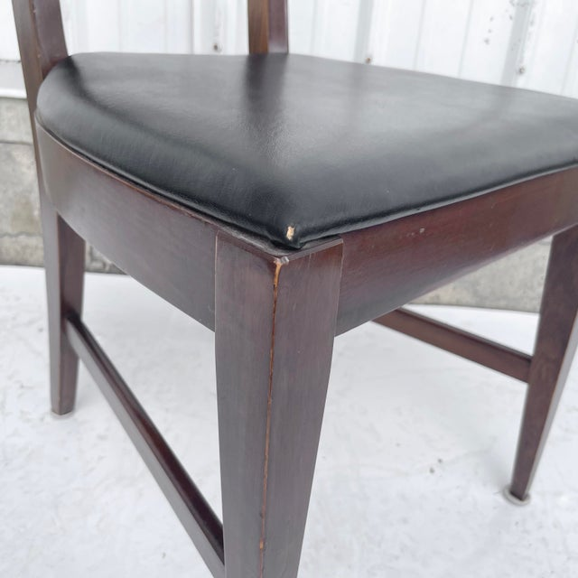Mid-Century Modern Walnut Desk Chair For Sale - Image 9 of 12