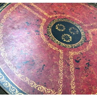 Theodore Alexander Leather Parquetry Brass Round Drum Georgian Table Preview