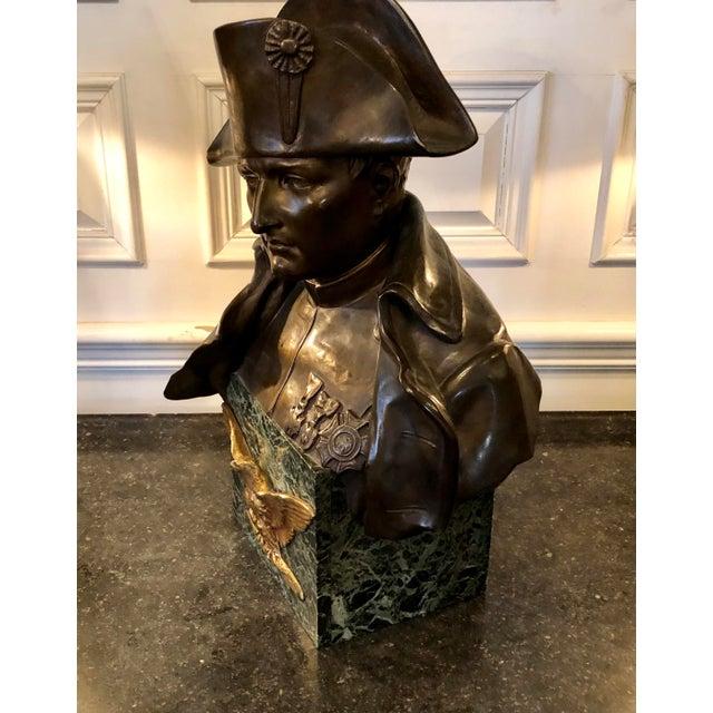 Late 19th Century Late 19th Century Antique Rafael Nannini Bronze Bust of Napoleon I Sculpture For Sale - Image 5 of 10
