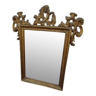 1920s Italian Hand-Carved Wall Mirror 1920s For Sale