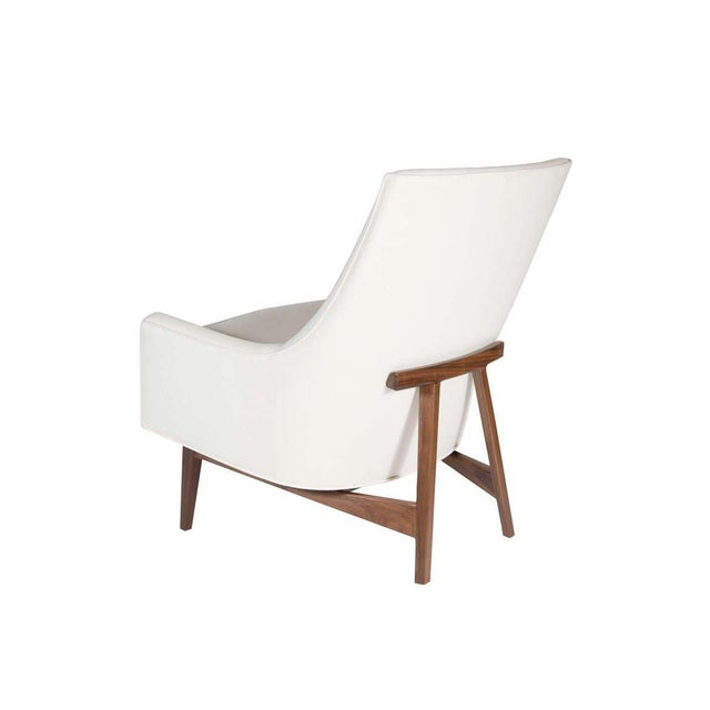 Customizable Cedrick Walnut Base Lounge Chair For Sale - Image 4 of 5