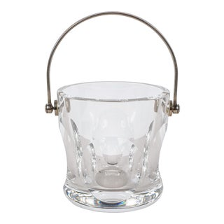 Rare Signed Baccarat Crystal Cocktail Ice Bucket For Sale