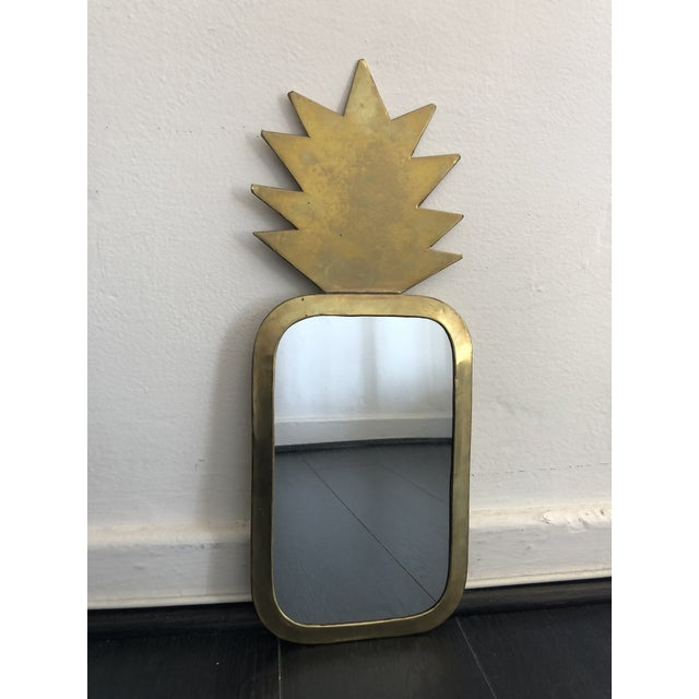 Glass Honore Gold Pineapple Wall Mirror For Sale - Image 7 of 7