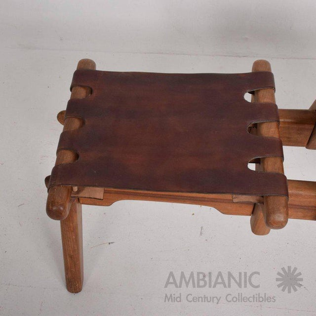 Angel I. Pazmino Mid-Century Modern Angel Pazmino Telephone Table Stool For Sale - Image 4 of 7