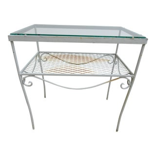 Vintage Patio Mesh Center Table For Sale