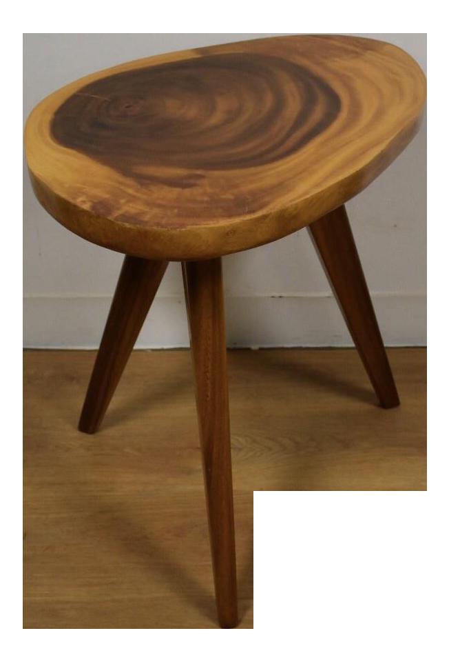 Ordinaire Vintage Monkey Pod End Table