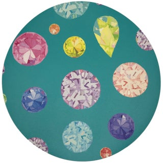 "Nicolette Mayer Jewel Cyan 16"" Round Pebble Placemats, Set of 4 Preview"