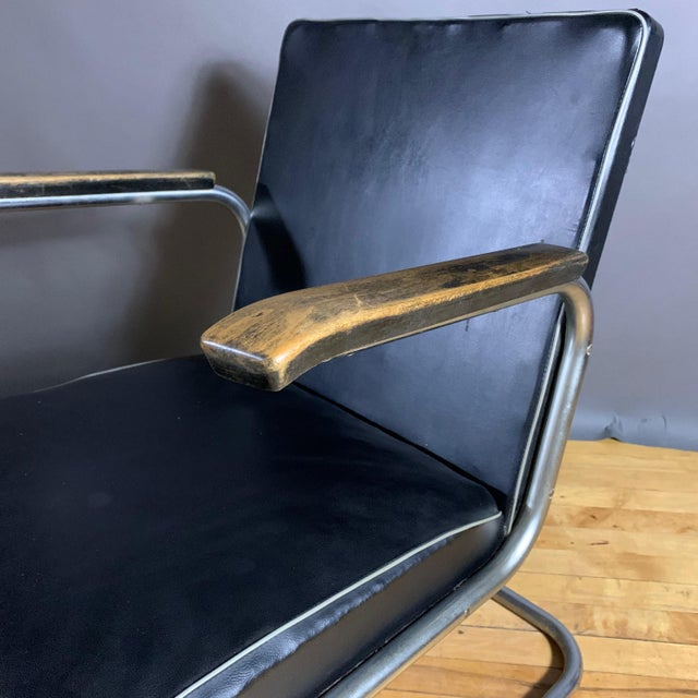 1950s Drabert Germany Cantilever Armchair For Sale In New York - Image 6 of 12