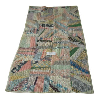20th Century Hand Made Tied, Hand Pieced Quilt For Sale
