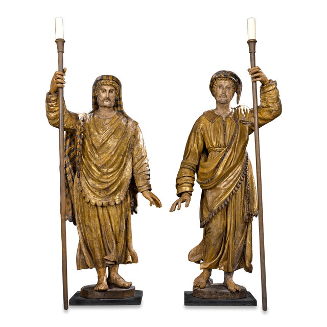 17th-Century Venetian Figural Torchères - Image 9 of 9