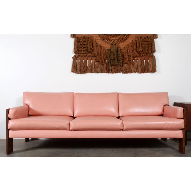 Fabulous vintage c.1960's mid century modern walnut framed sofa by the famed American designer, Adrian Pearsall for Craft...