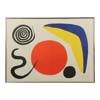 Vintage Mid Century Calder Lithograph by Alexander Calder For Sale