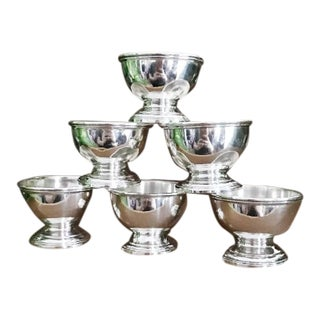 Antique Tiffany & Co Sterling Silver Salt Cellars - Set of 6 For Sale