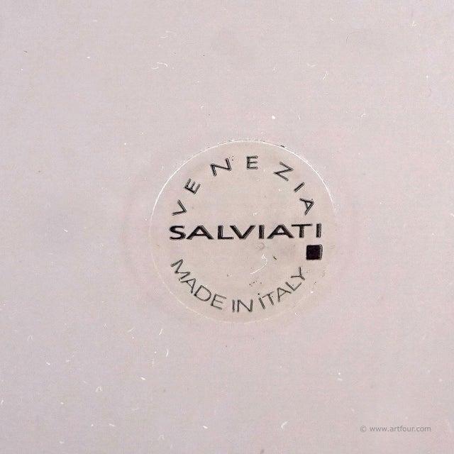 Salviati Simon Moore for Salviati, Large Fasciati Glass Vase For Sale - Image 4 of 6