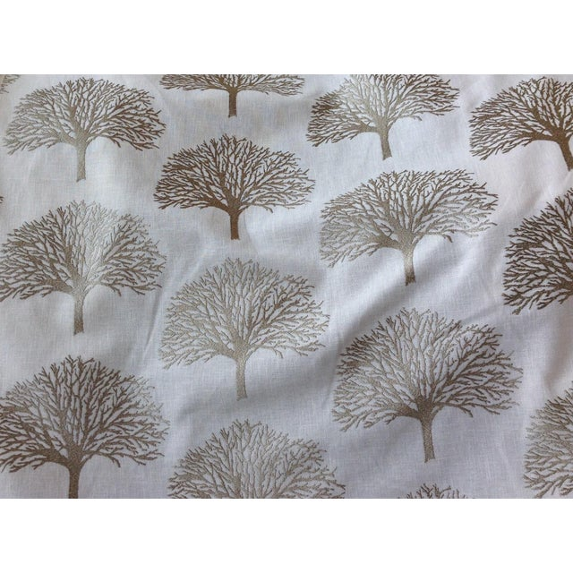 Duralee Linen Tree Embroidery Fabric - 5 Yards For Sale