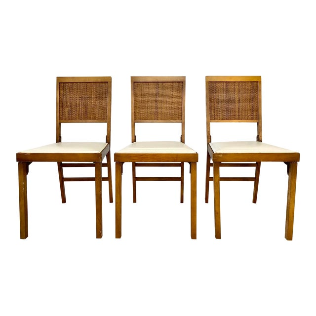 Mid Century Modern Leg-O-Matic Folding Chairs - Set of 3 For Sale