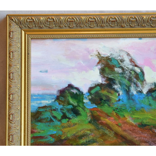 Mid 20th Century California Santa Barbara Landscape Oil Painting by Juan Guzman For Sale - Image 5 of 10