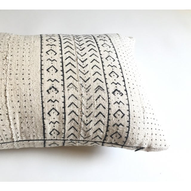 White & Black Mudcloth Pillow Cover - Image 3 of 9
