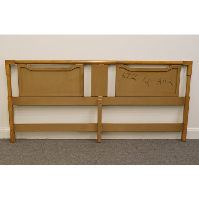 Late 20th Century Mid-Century Modern King Size Panel Headboard With Cane-Like Detail For Sale - Image 5 of 7