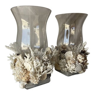 Medium Hurricane Lamps - a Pair For Sale