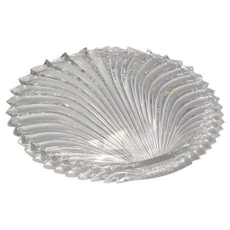 Lead Crystal Shell Platter - Image 1 of 5