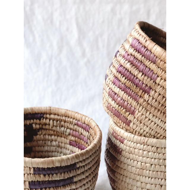 Vintage Tribal Grass Baskets - Set of 3 For Sale In Portland, OR - Image 6 of 8