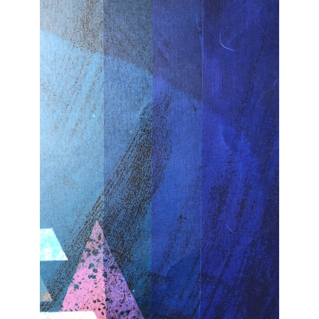 """1970s 1970s Abstract Silkscreen """"Pyramid"""" j.h. Turner For Sale - Image 5 of 9"""