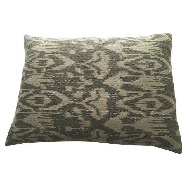 Indian Textile Ikat Pillow For Sale