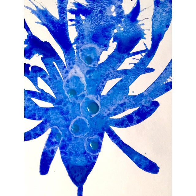 """""""Blue Bird 2"""" Watercolor Painting - Image 2 of 2"""