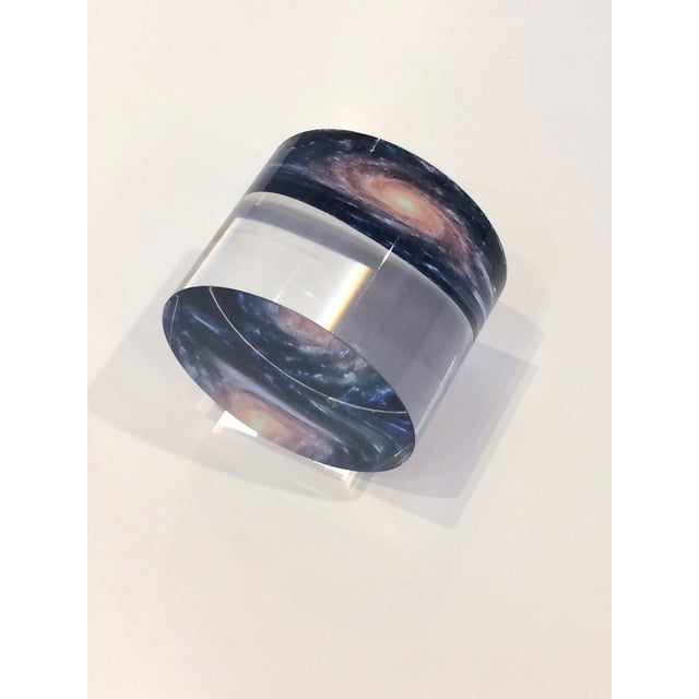 DWM | MALOOS DWM | MALOOS Galaxy Motif Lucite Paperweight For Sale - Image 4 of 7