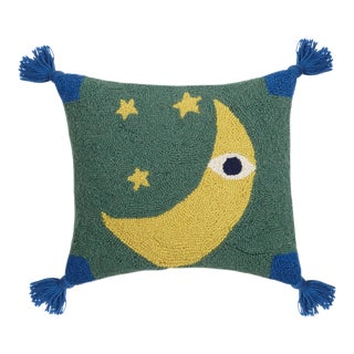 "Lulu Lunar Moon Tassels Hook Pillow, 14"" x 16"" For Sale"