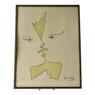 "Jean Cocteau Lithograph ""The Kiss"""