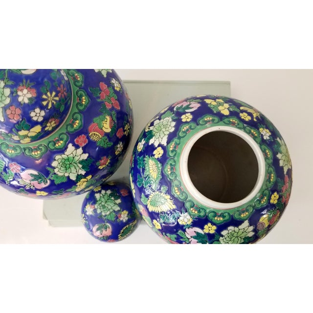 Asian Contemporary Asian Ginger Jars - a Pair For Sale - Image 3 of 11