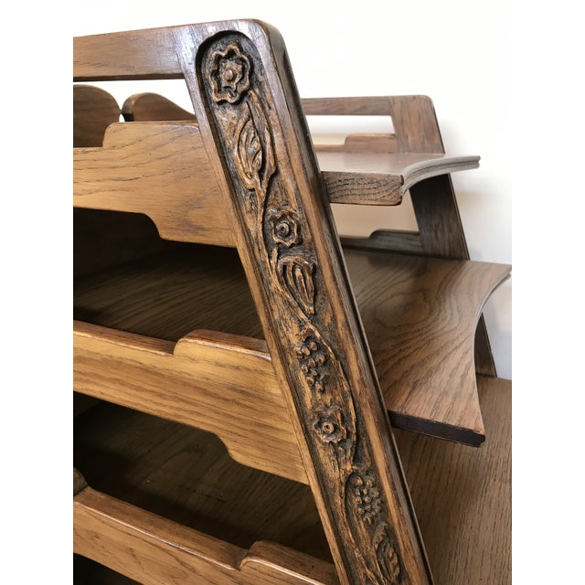 Wood Pair Romweber Viking Oak End Table Nightstands Magazine Shelf 5712 5-950 Arts and Crafts For Sale - Image 7 of 13