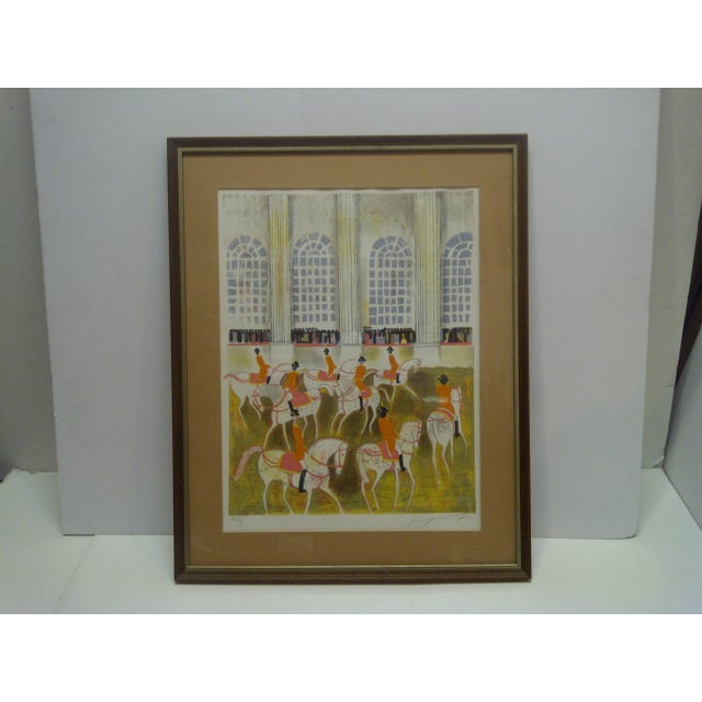 """Brown """"Horses on Parade"""" Framed & Matted Limited Edition Signed Numbered (186/375) Print For Sale - Image 8 of 8"""