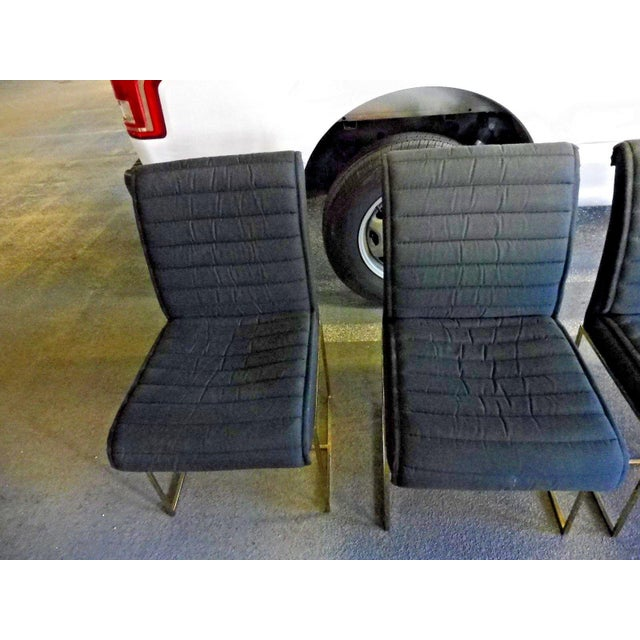 1970's Mid-Century Modern Milo Baughman Dining Chairs - Set of 4 For Sale - Image 11 of 13