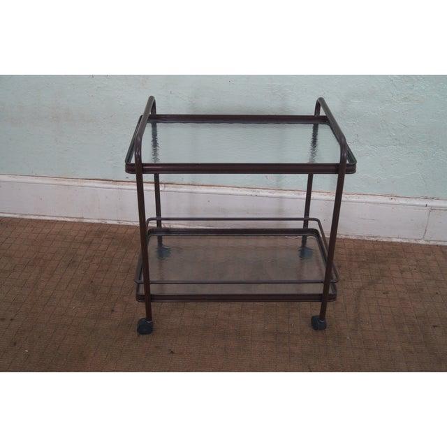Brown Jordan Tamiami Vintage Aluminum Patio Serving Cart Age/country of origin: approx 30 years, america...