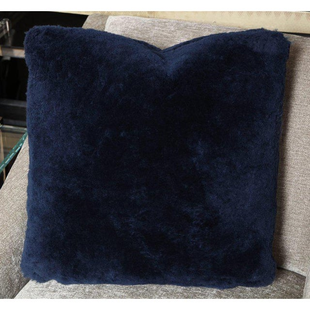 Venfield Genuine Shearling Pillows For Sale - Image 4 of 4