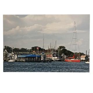 """Greenport Harbor"" Photograph on Metal For Sale"