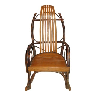 Vintage Farmhouse Rustic Rocker For Sale