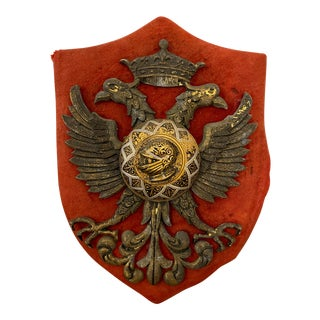 Ancient Heraldic Metal Coat of Arms For Sale