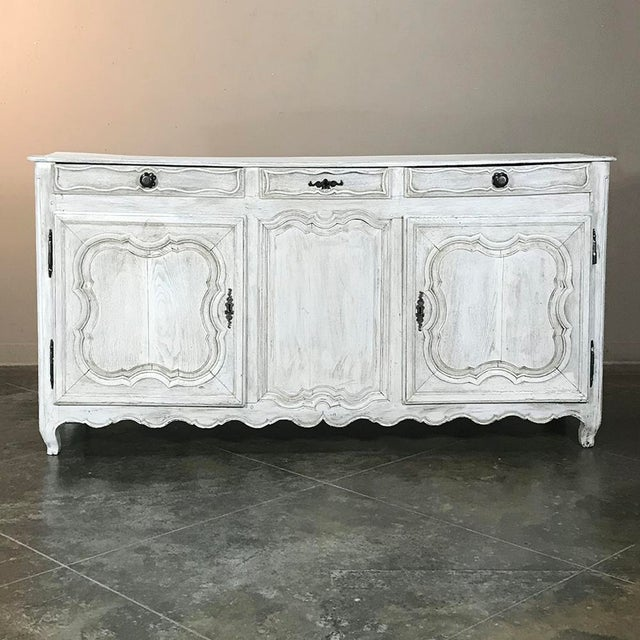 18th Century Country French Whitewashed Buffet For Sale In Dallas - Image 6 of 13