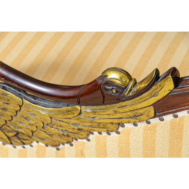 Hollywood Regency Hand Carved Swan Recamier or Meridienne For Sale In West Palm - Image 6 of 10