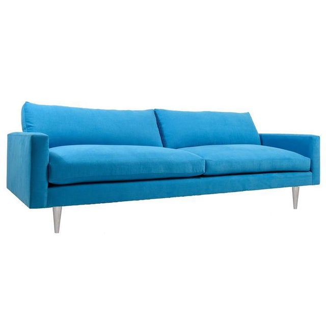 Modern Mid-Century Style Raven Sofa For Sale - Image 4 of 4